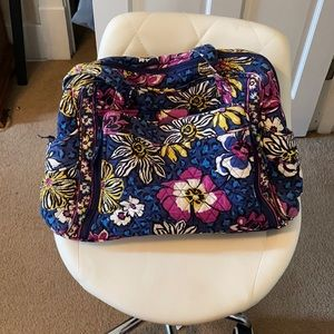 Vera Bradley African Violet Diaper Bag / Stained